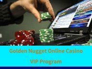 Golden Nugget Online Casino VIP Program