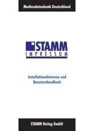 Handbuch STAMM Impressum