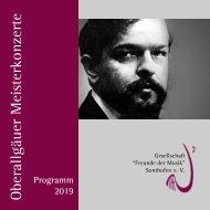 Oberallgäuer Meisterkonzerte Programm 2019