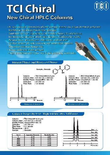 Tokyo Chemical Industries (TCI)  Chiral HPLC Columns