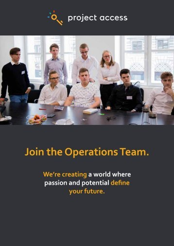 Project Access - Join the Operations Team 2018 1.3