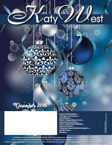 Katy West December 2018