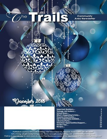Oak Park Trails December 2018