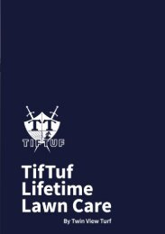 TifTuf Lifetime Lawn Care Guide by Twin View Turf