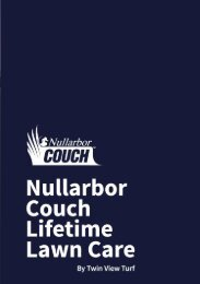 Nullarbor Couch Lifetime Lawn Care Guide