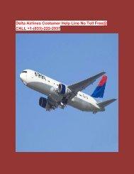 Delta Airlines Costumer Help Line No Toll Free