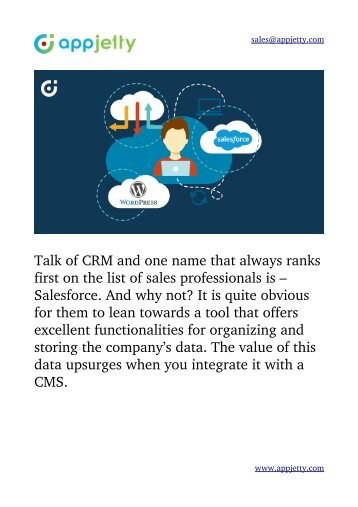 Advantages of Integrating WordPress & Salesforce You Must Know About!