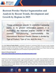 Beetroot Powder Market Analysis by Key Players, Industry Growth, Size, Share, Trends, Sales Forecast and Supply Demand to 2025