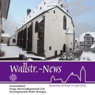 Wallstr. News Marienstiftsgemeinde Lich 1,2019