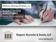 Milwaukee WI Professional and Experienced Divorce Attorney
