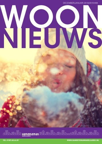Hameeteman Makelaardij Woonnieuws, #39, december '18/januari '19