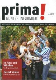 prima! Magazin - Ausgabe Oktober 2010