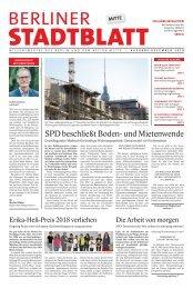 Berliner Stadtblatt Mitte Ausgabe Dezember 2018