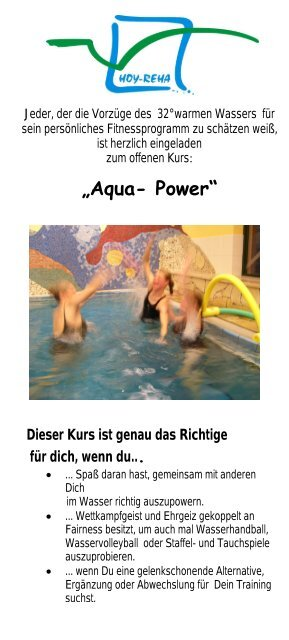 """Aqua- Power"" - HOY-REHA GmbH"