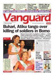 27112018 - Buhari, Atiku tango over killing of soldiers in Borno