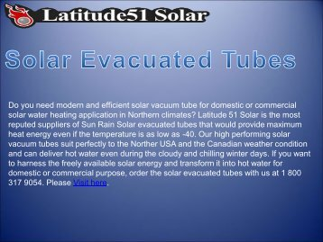 Best Quality Solar Evacuated Tubes