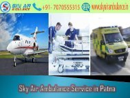 Avail the Most Reliable Air Ambulance Service in Patna