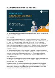 Healthcare Innovation CIO Meet -2019