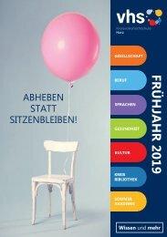 Abheben statt sitzenbleiben - Das Frühjahrsprogramm 2019 der KVHS Harz