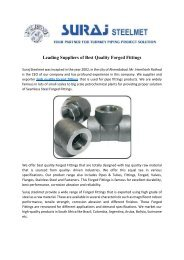 Leading Suppliers of Best Quality Forged Fittings