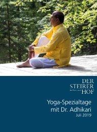 Yoga-Spezialtage mit Dr. Adhikari