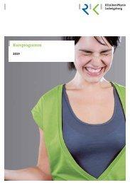 Patienteninformation: Kursprogramm der RKH Kliniken Physio Ludwigsburg