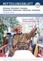 Nürnberg-Katzwang/Worzeldorf/Kornburg - Dezember 2018