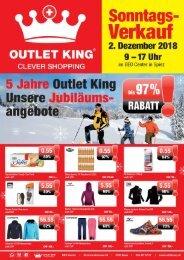 Outlet-King Spiez Werbung November 2018