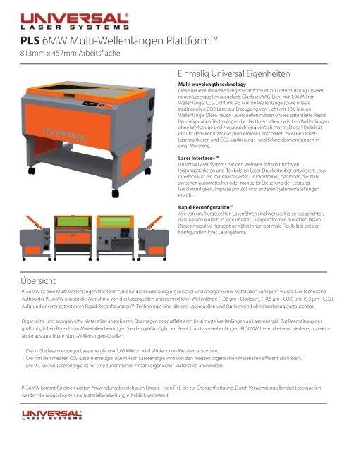 PLS 6MW Multi-Wellenlängen Plattform™ - F. Huhn & Sohn GmbH