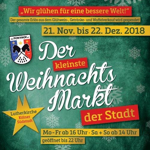 Der kleinste Weihnachtsmarkt der Stadt – Die Broschüre 2018