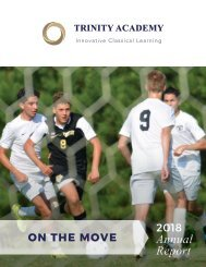 Trinity Academy 2018 Annual Report