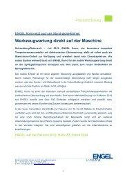 Werkzeugwartung direkt auf der Maschine - Engel Austria
