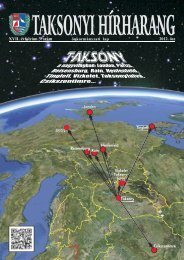 Taksonyi Hírharang 17. évfolyam 3. szám 2012. ősz
