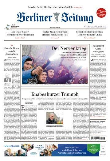 Berliner Zeitung 27.11.2018