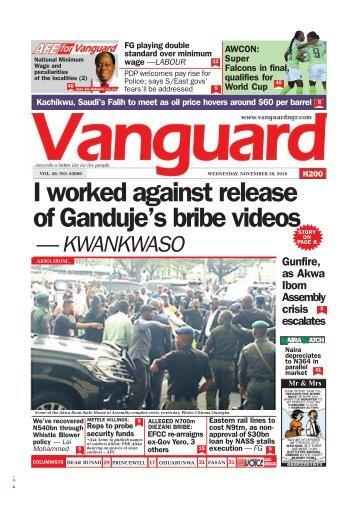28112018 - I worked against release of Ganduje's bribe videos — KWANKWASO