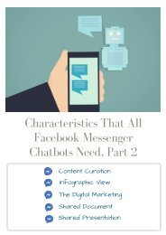 Characteristics That All Facebook Messenger Chatbots Need, Part 2