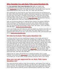 Get Auto Title Loans Stockton CA   209-395-0007