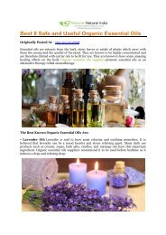 Best 8 Safe and Useful Organic Essential Oils