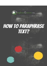 How to Paraphrase Text?