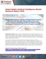 Mobile Artificial Intelligence Market : Growth, Size, Industry Analysis And Forecast Report 2018