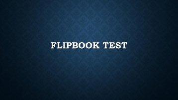 Flipbook test