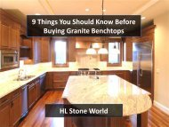 9 Things You Should Know Before Buying Granite Benchtops
