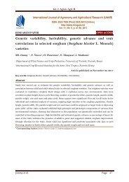 Genetic variability, heritability, genetic advance and trait correlations in selected sorghum (Sorghum bicolor L. Moench) varieties