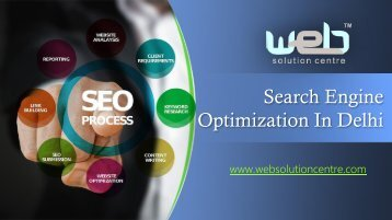 Firms Doing Search Engine Optimization in Delhi Ensure That Your Products Get the Visibility