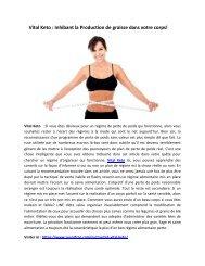 Vital Keto : Lutter contre les gros Gain et perdre du poids rapidement