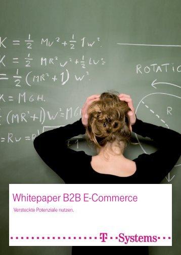 Whitepaper B2B E-Commerce - Prof. Dr. Ralph Sonntag