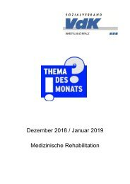 TdM Dezember Januar Rehabilitation