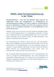 ENGEL stärkt Vertriebsniederlassung in der Türkei - Engel Austria