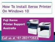 How To Install Xerox Printer On Windows 10