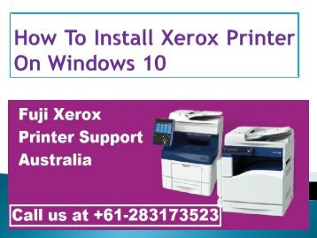 How To Install Xerox Printer On Windows 10